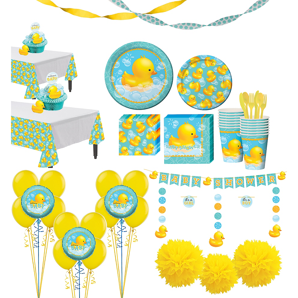 Rubber Ducky Baby Premium Baby Shower Kit for 32 Guests Image #1
