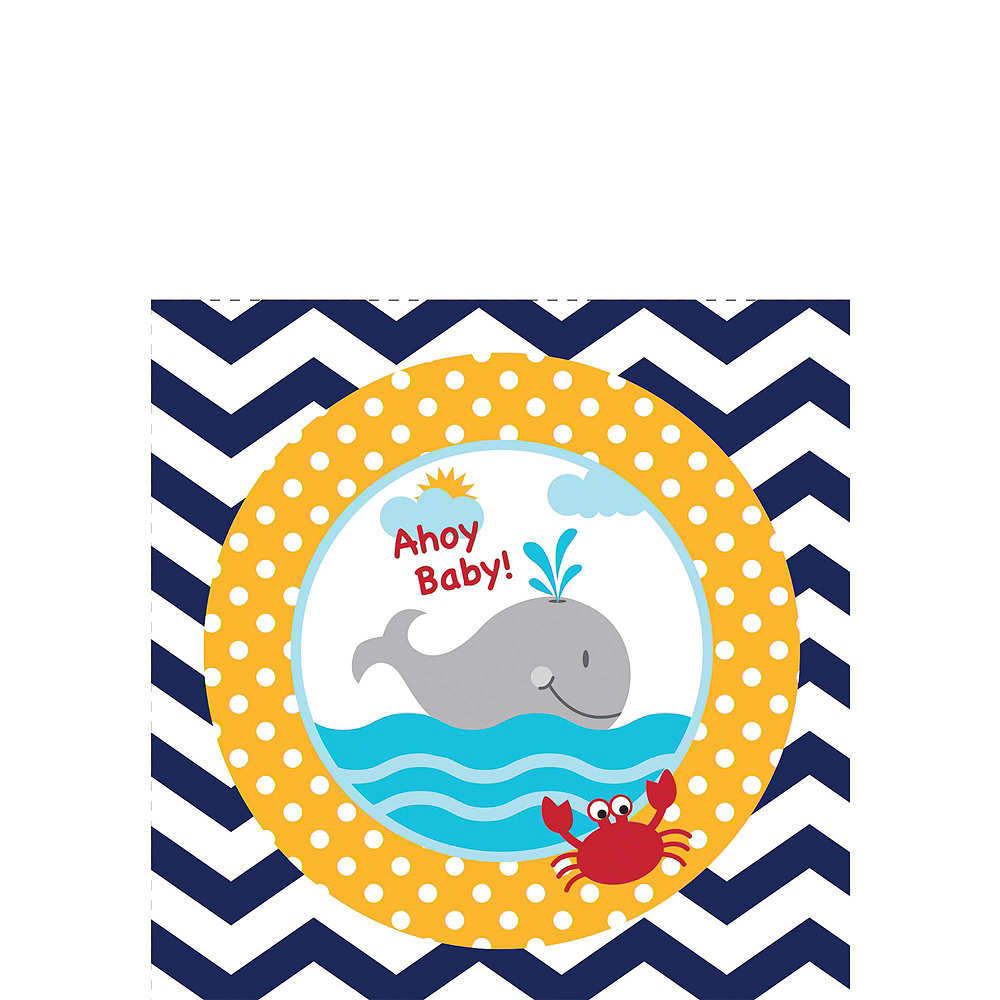 Ahoy Nautical Premium Baby Shower Kit for 32 Guests Image #4