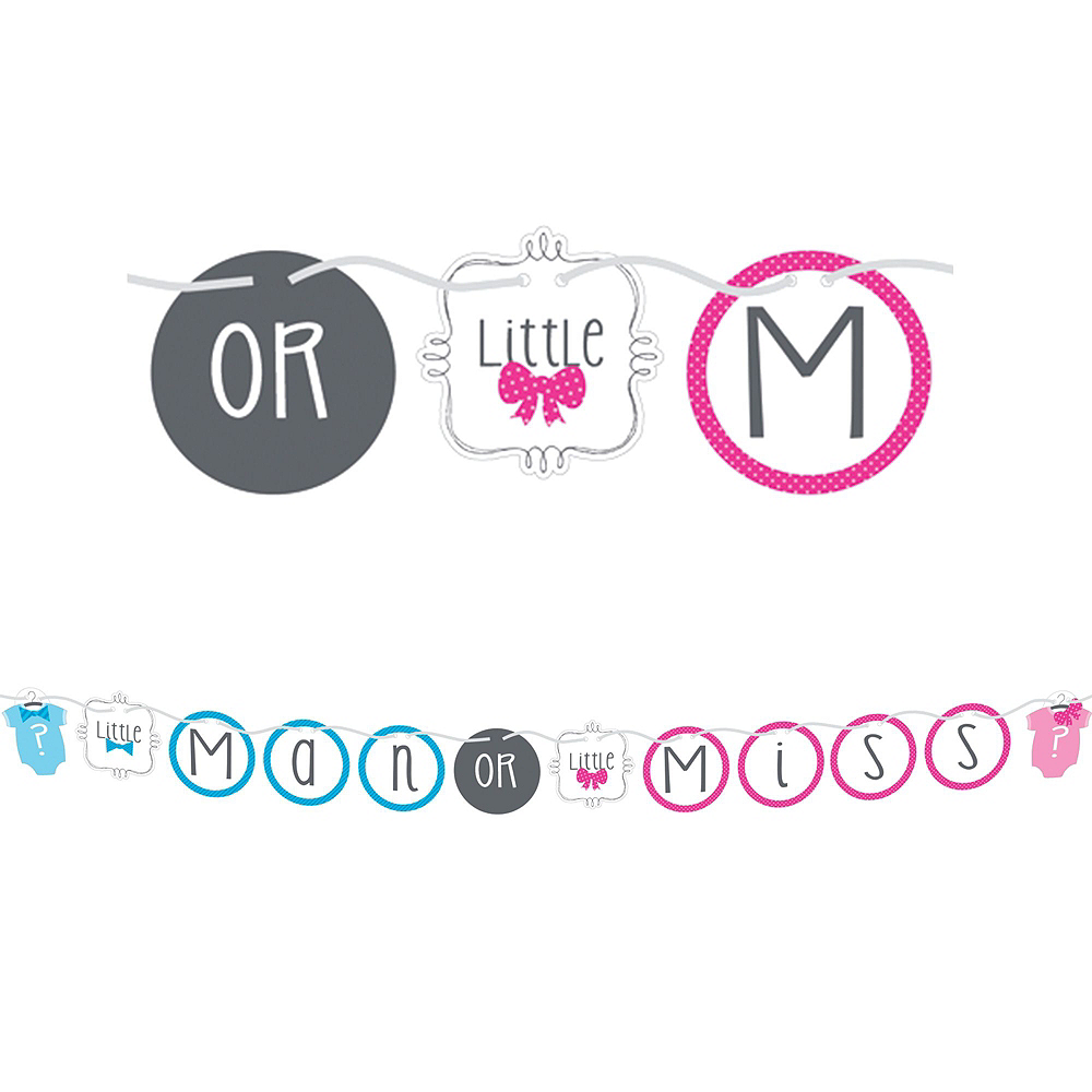 Little Man, Little Miss Premium Gender Reveal Party Kit for 32 Guests Image #8
