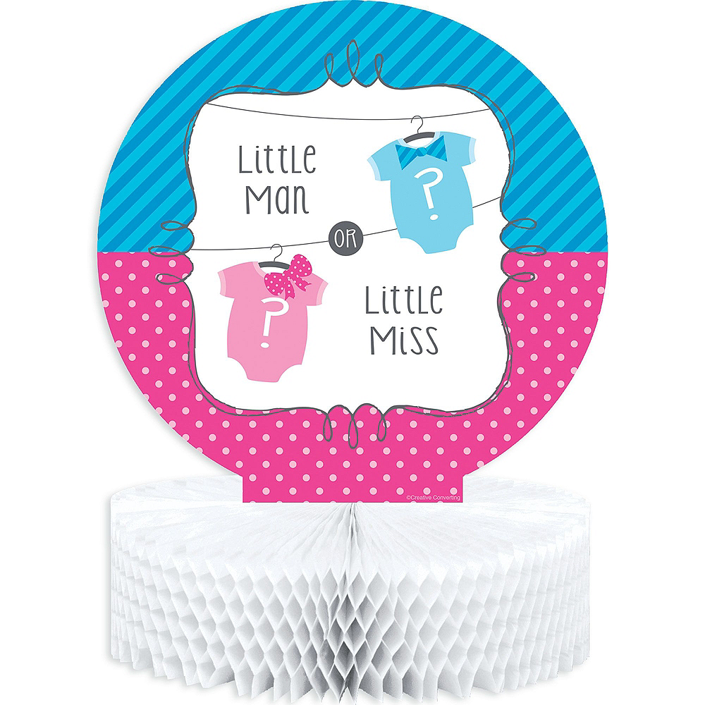 Little Man, Little Miss Premium Gender Reveal Party Kit for 32 Guests Image #9