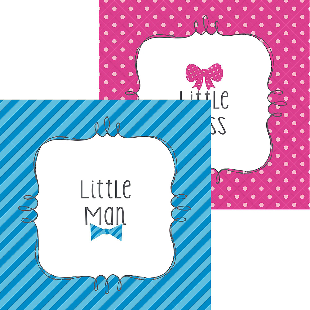 Little Man, Little Miss Premium Gender Reveal Party Kit for 32 Guests Image #17
