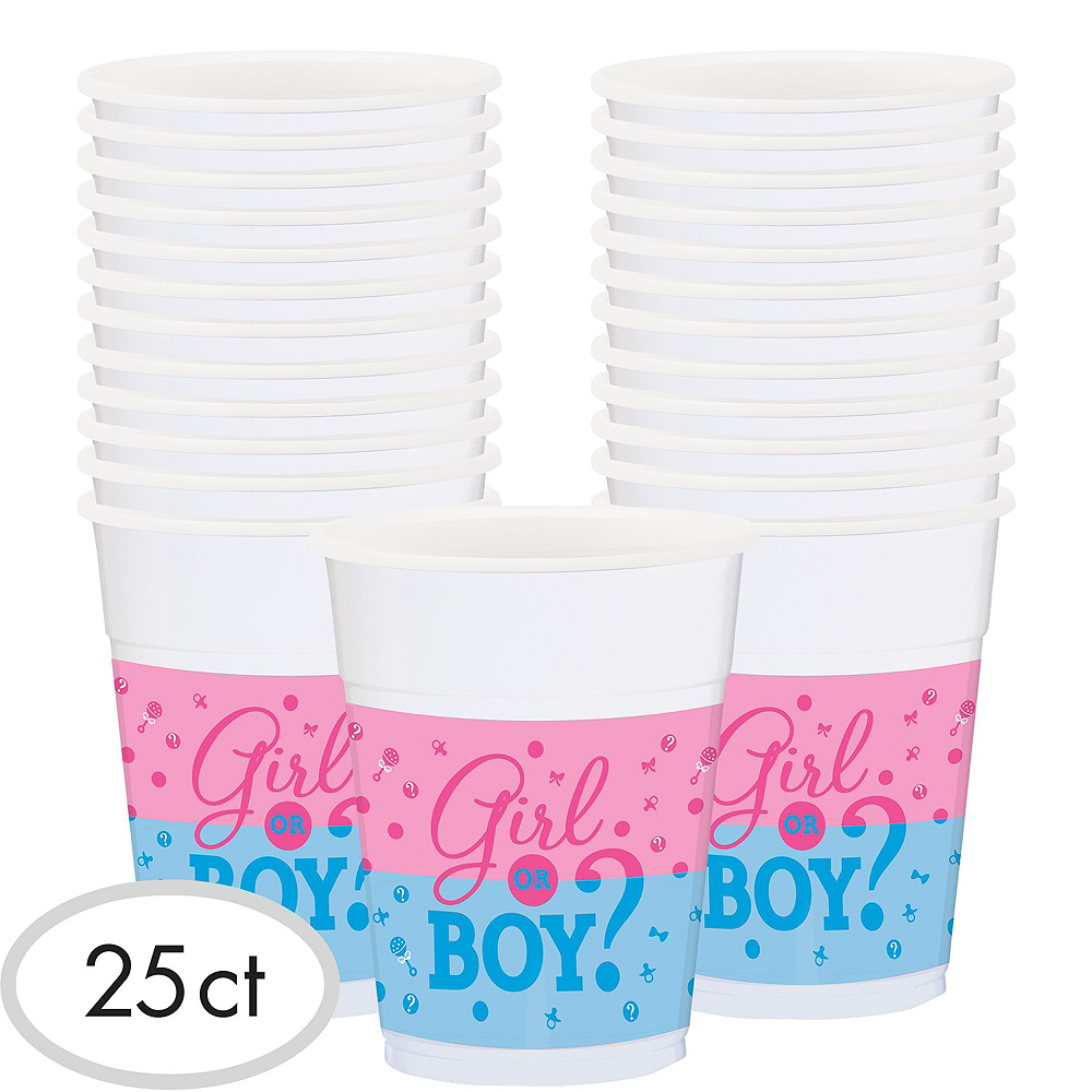 Girl or Boy Premium Gender Reveal Party Kit for 32 Guests Image #14