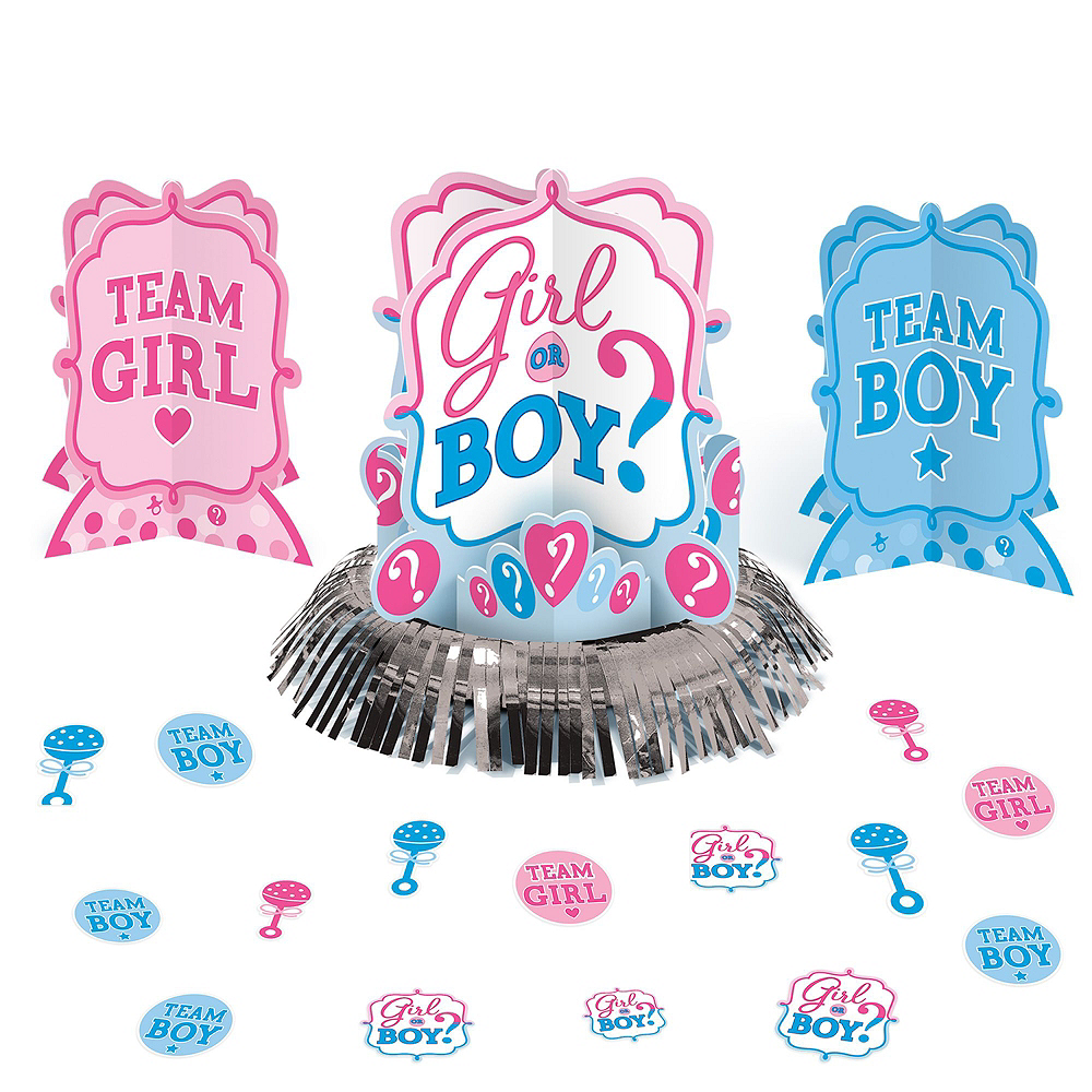Girl or Boy Premium Gender Reveal Party Kit for 32 Guests Image #17