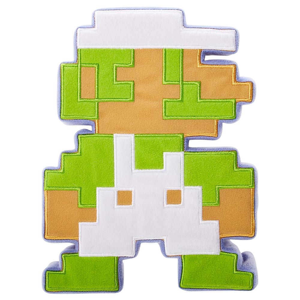 8-Bit Luigi Plush - Super Mario Brothers Image #1