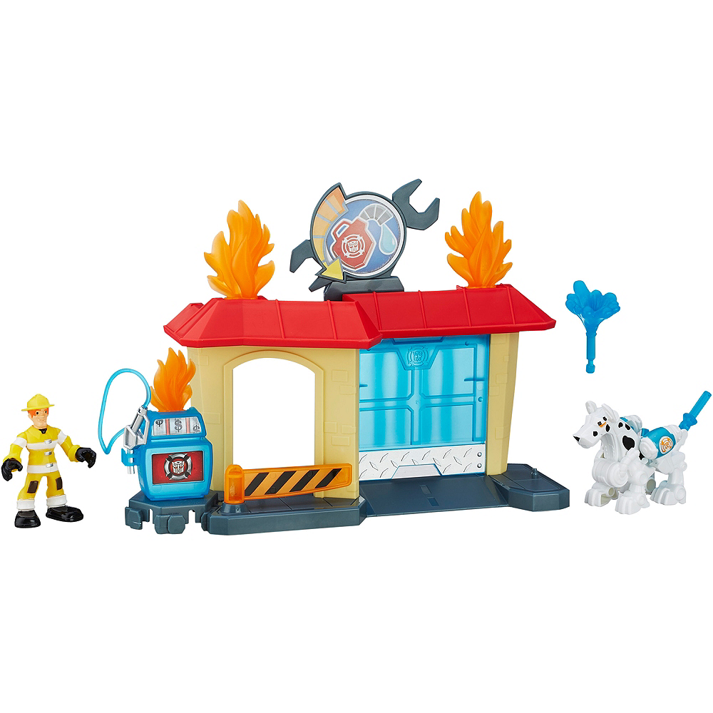 Rescue Bots Griffin Rock Garage Playset 7pc - Transformers Image #1