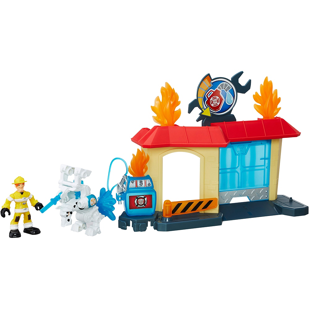 Rescue Bots Griffin Rock Garage Playset 7pc - Transformers Image #2