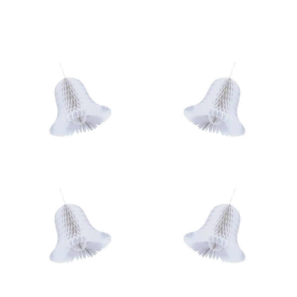 Mini Honeycomb Wedding Bells 4ct Image #1