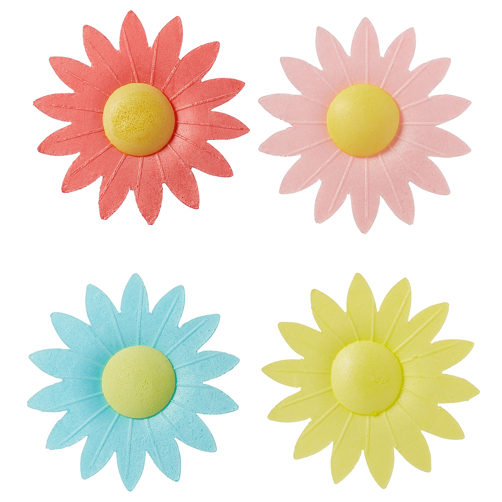 Daisy Icing Decorations 17ct Image #1