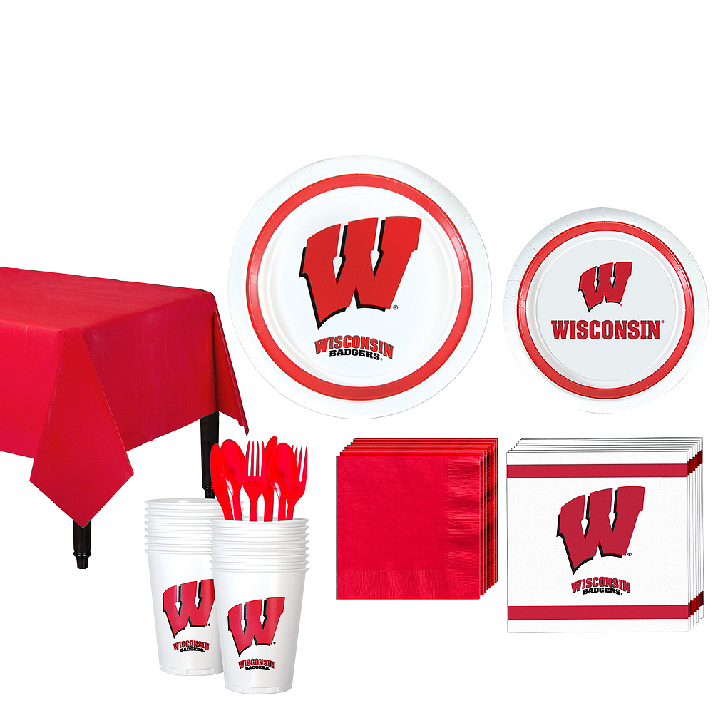 Wisconsin Badgers Party Kit for 16 Guests Image #1