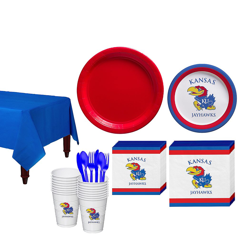 Kansas Jayhawks Party Kit for 16 Guests Image #1