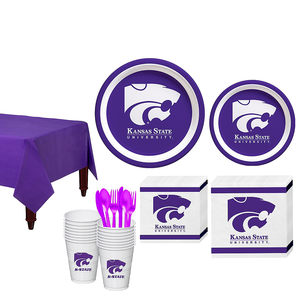 Kansas State Wildcats Party Kit for 16 Guests Image #1