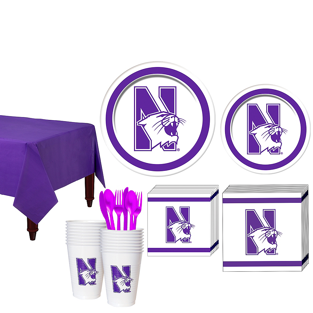 Northwestern Wildcats Party Kit for 16 Guests Image #1