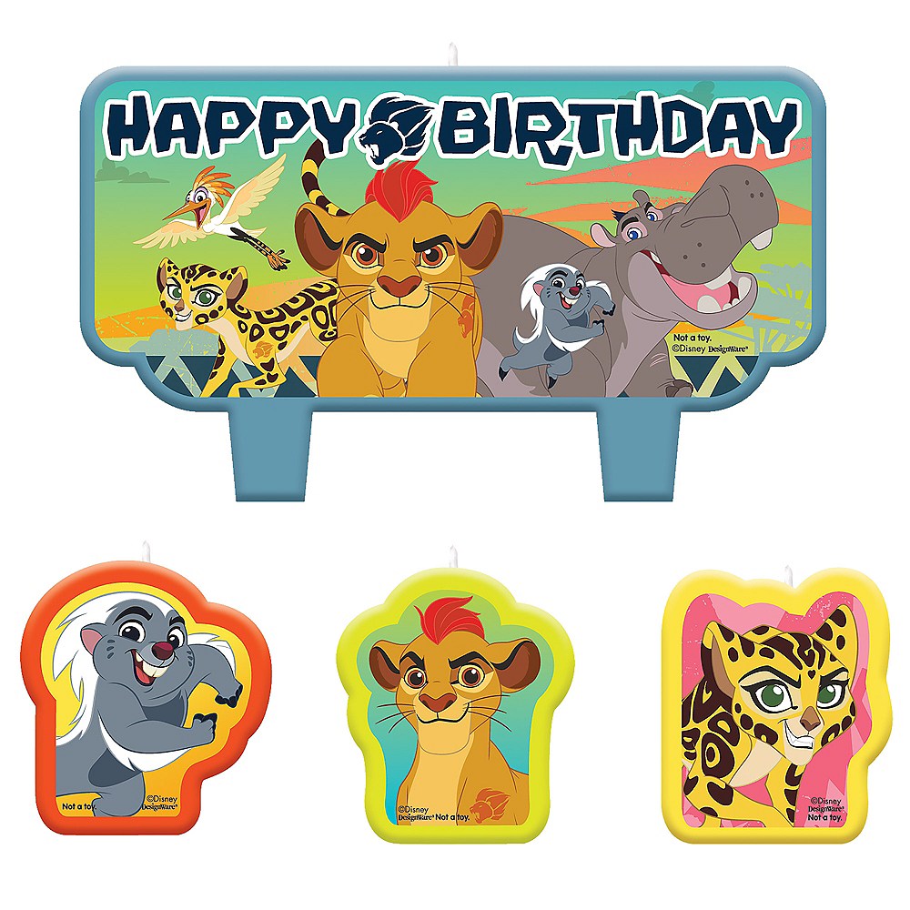 Lion Guard Birthday Candles 4ct Image #1