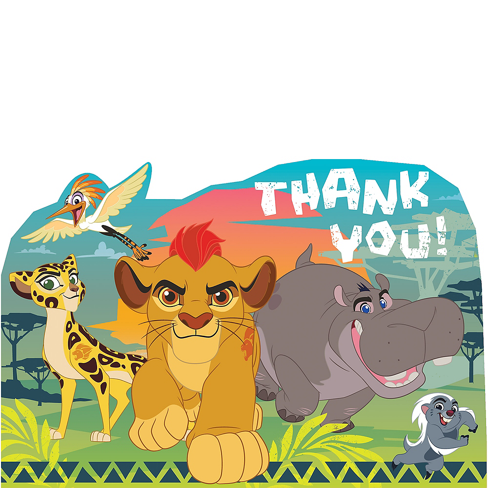 Lion Guard Thank You Notes 8ct Image #1