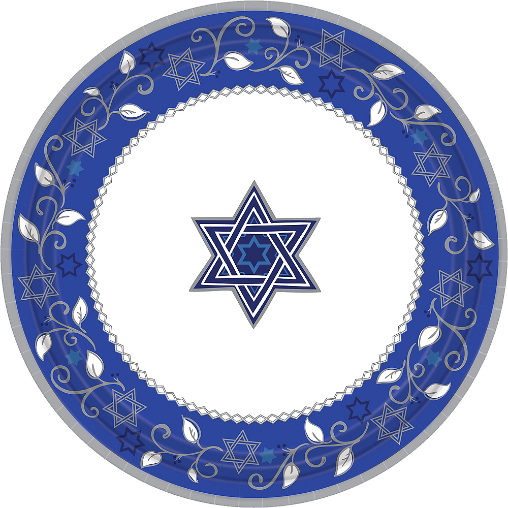 Joyous Holiday Passover Dinner Plates 8ct Image #1