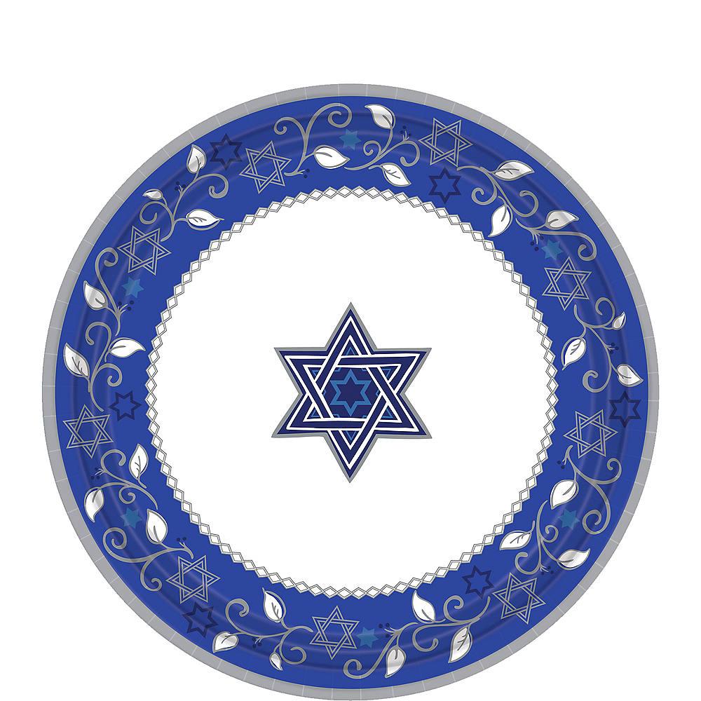 Nav Item for Joyous Holiday Passover Dessert Plates 8ct Image #1