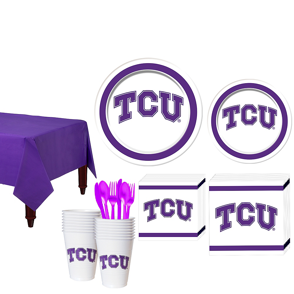 TCU Horned Frogs Party Kit for 16 Guests Image #1