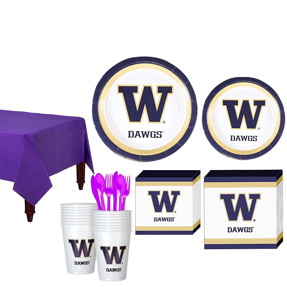 Washington Huskies Party Kit for 16 Guests Image #1