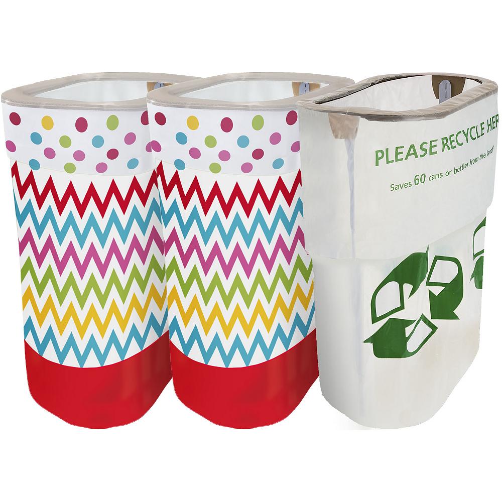 Bright Rainbow Polka Dot & Chevron Clean-Up Kit Image #1