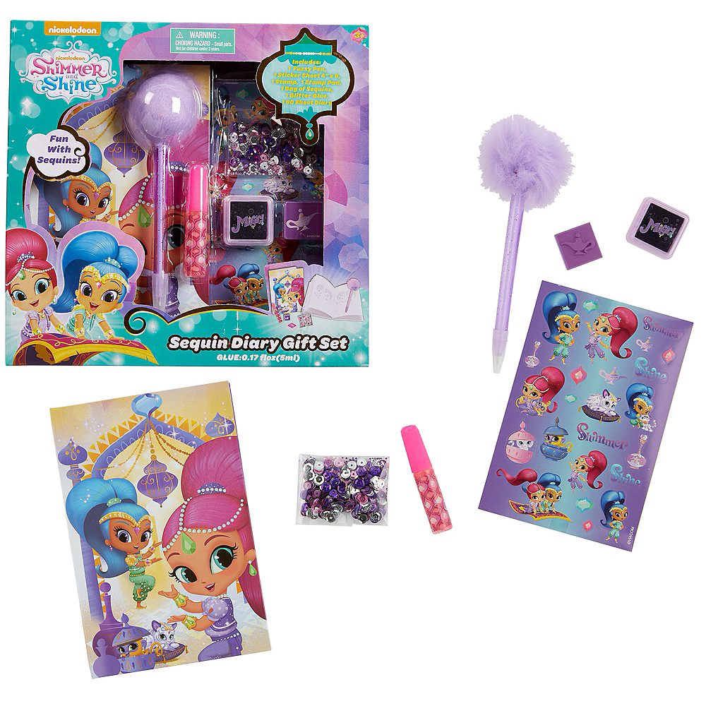Shimmer and Shine Diary Set 7pc Image #1