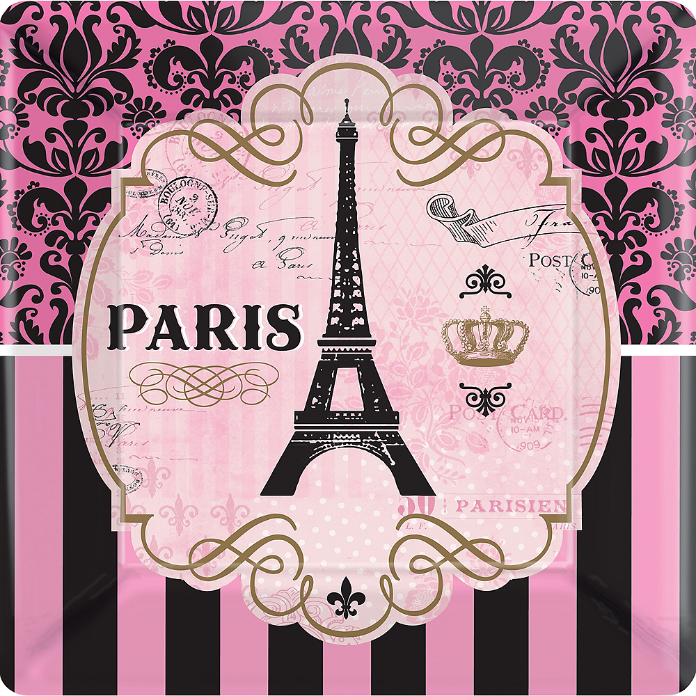 A Day in Paris Dinner Plates 8ct Image #1