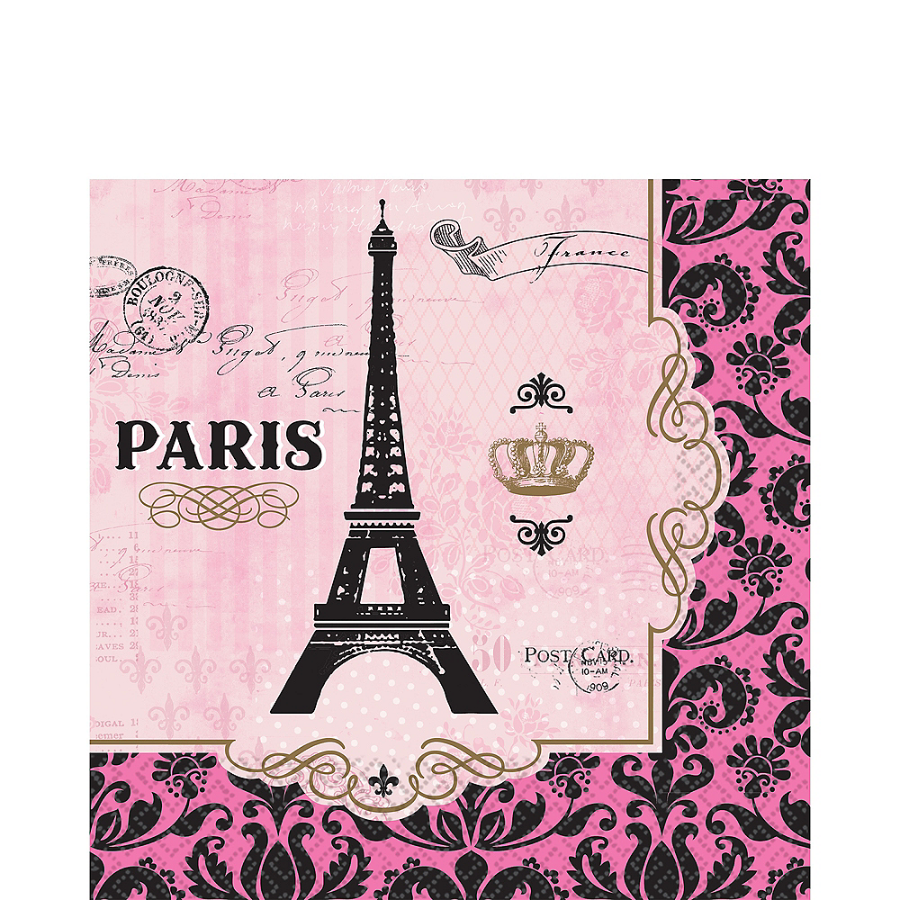 A Day in Paris Lunch Napkins 16ct Image #1