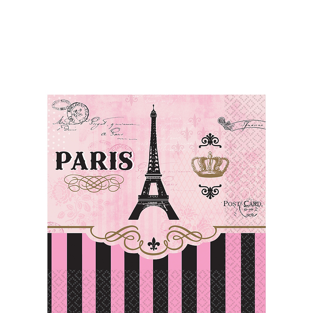 A Day in Paris Beverage Napkins 16ct Image #1