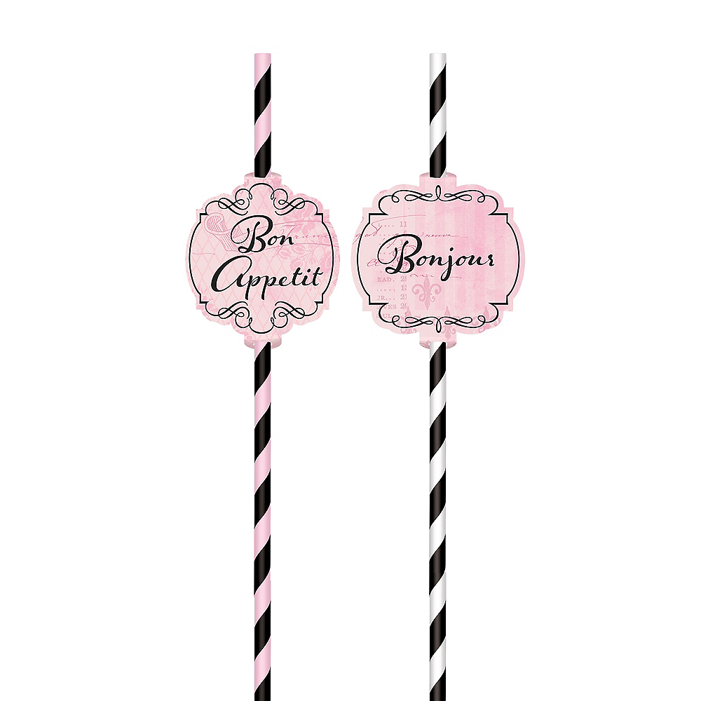 A Day in Paris Paper Straws 12ct Image #3