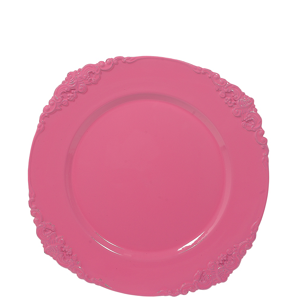 Pink Scroll Charger Image #1