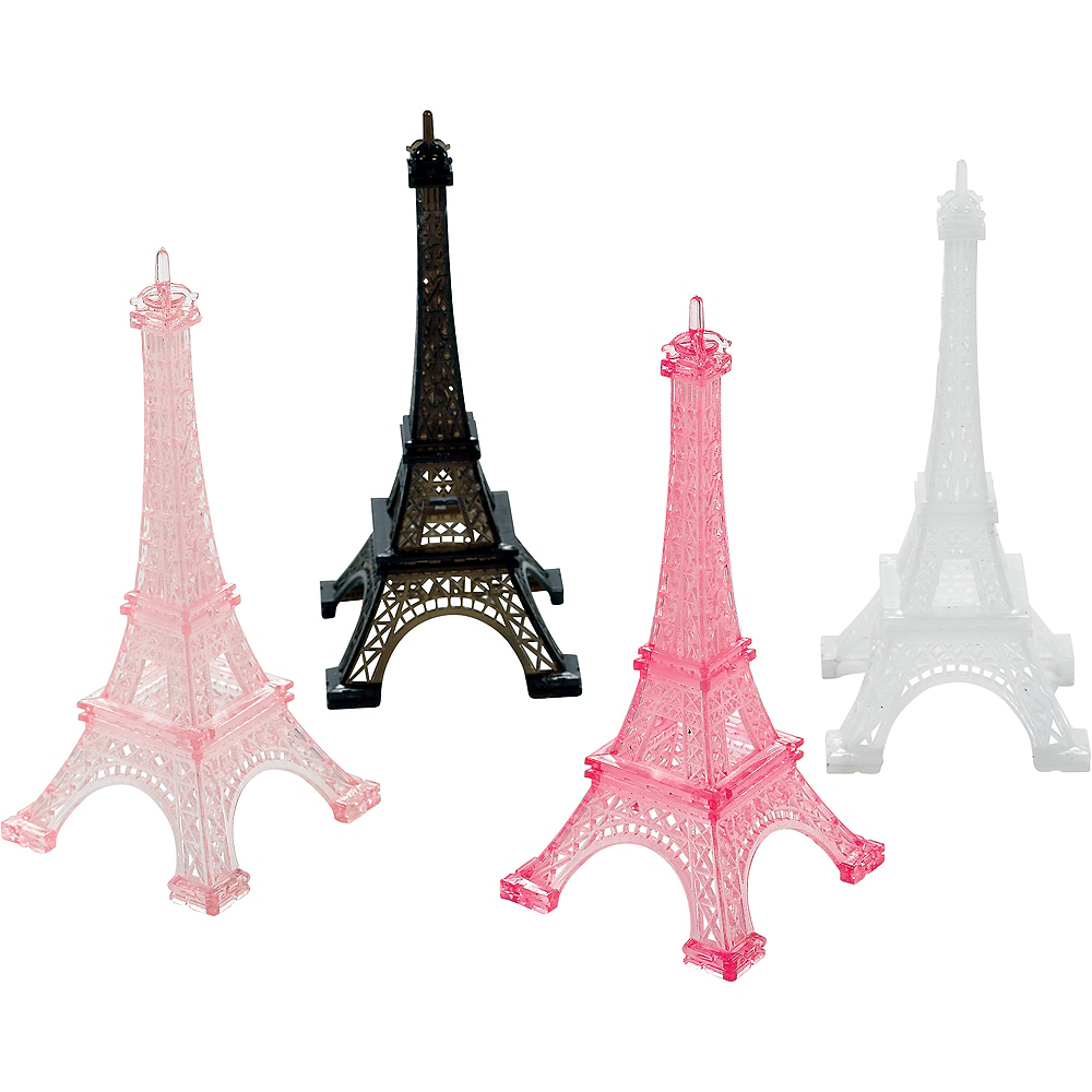 Nav Item for A Day in Paris Eiffel Tower Table Decorations 4ct Image #1