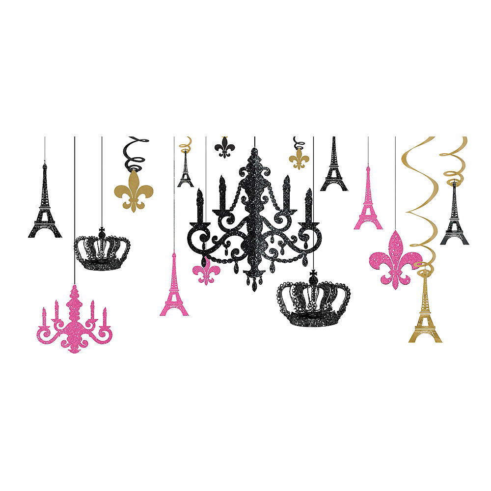 Nav Item for A Day in Paris Chandelier Decorating Kit 17pc Image #1