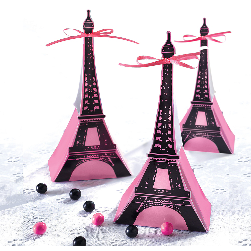A Day in Paris Favor Boxes 12ct Image #1