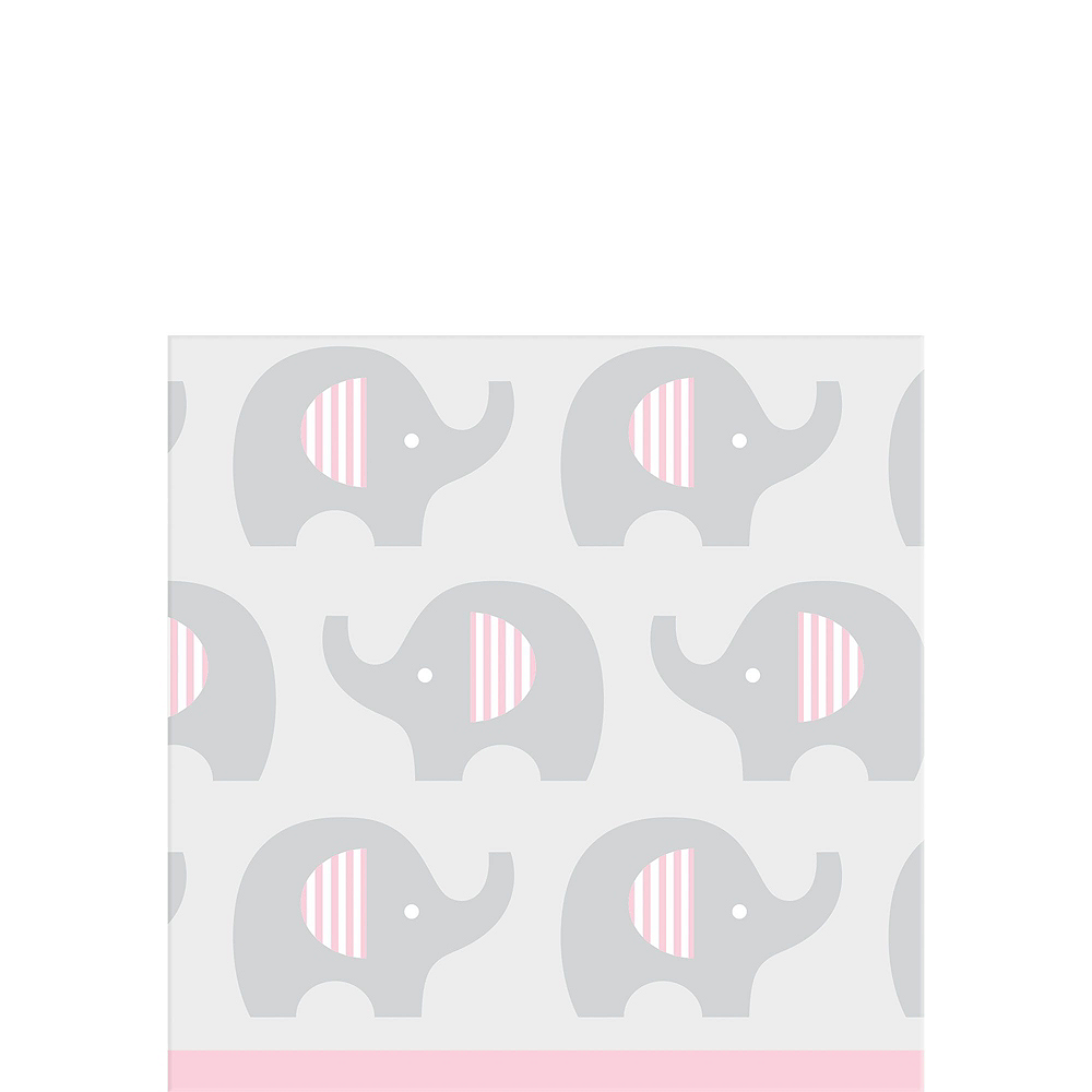 Pink Baby Elephant Tableware Kit 16 Guests Image #4
