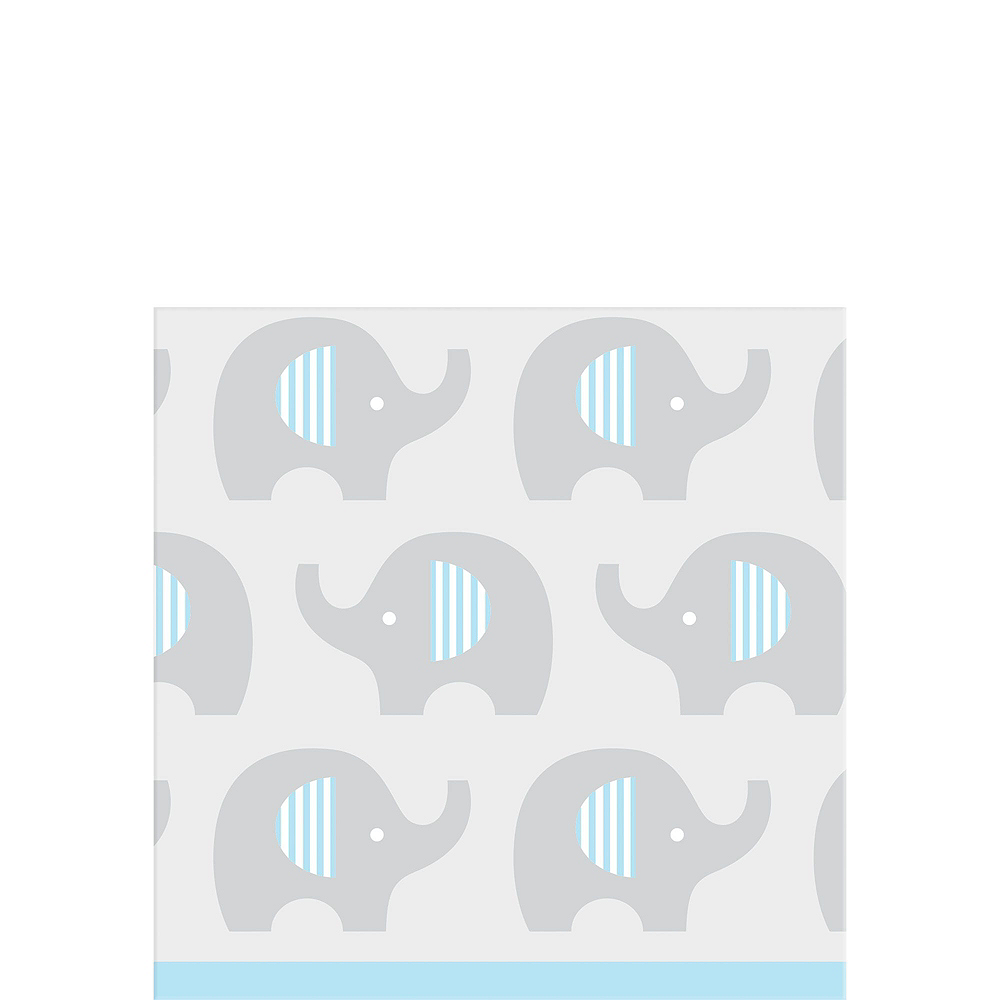 Blue Baby Elephant Tableware Kit 32 Guests Image #4