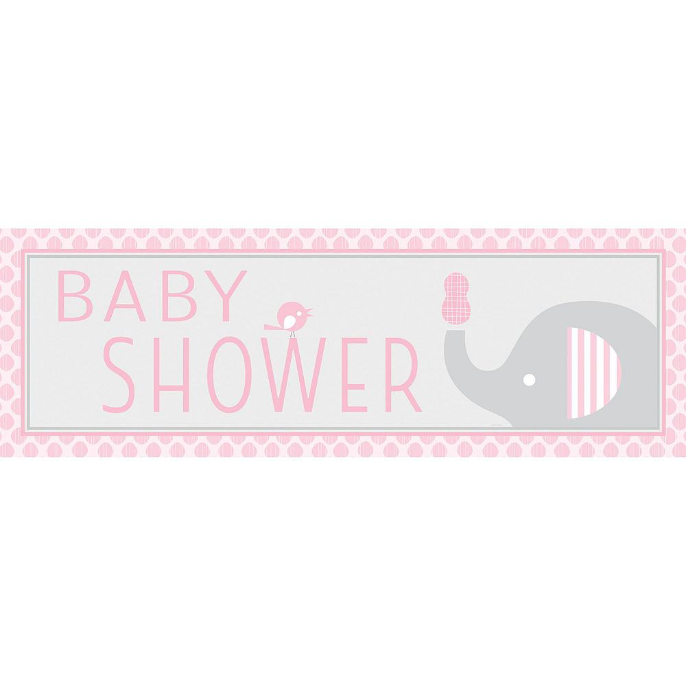 Pink Baby Elephant Decorations Kit Image #3