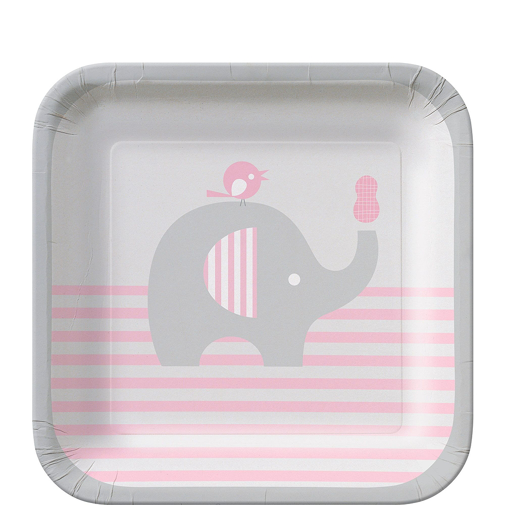 Pink Baby Elephant Premium Baby Shower Kit for 32 Guests Image #2
