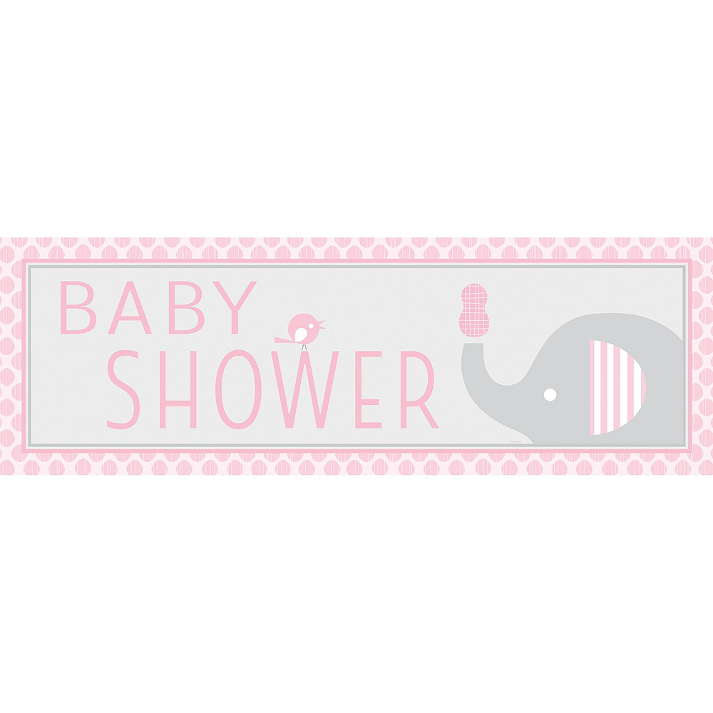 Pink Baby Elephant Premium Baby Shower Kit for 32 Guests Image #12