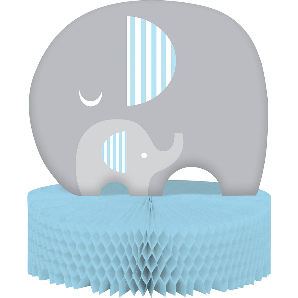 Blue Baby Elephant Premium Baby Shower Kit for 32 Guests Image #10