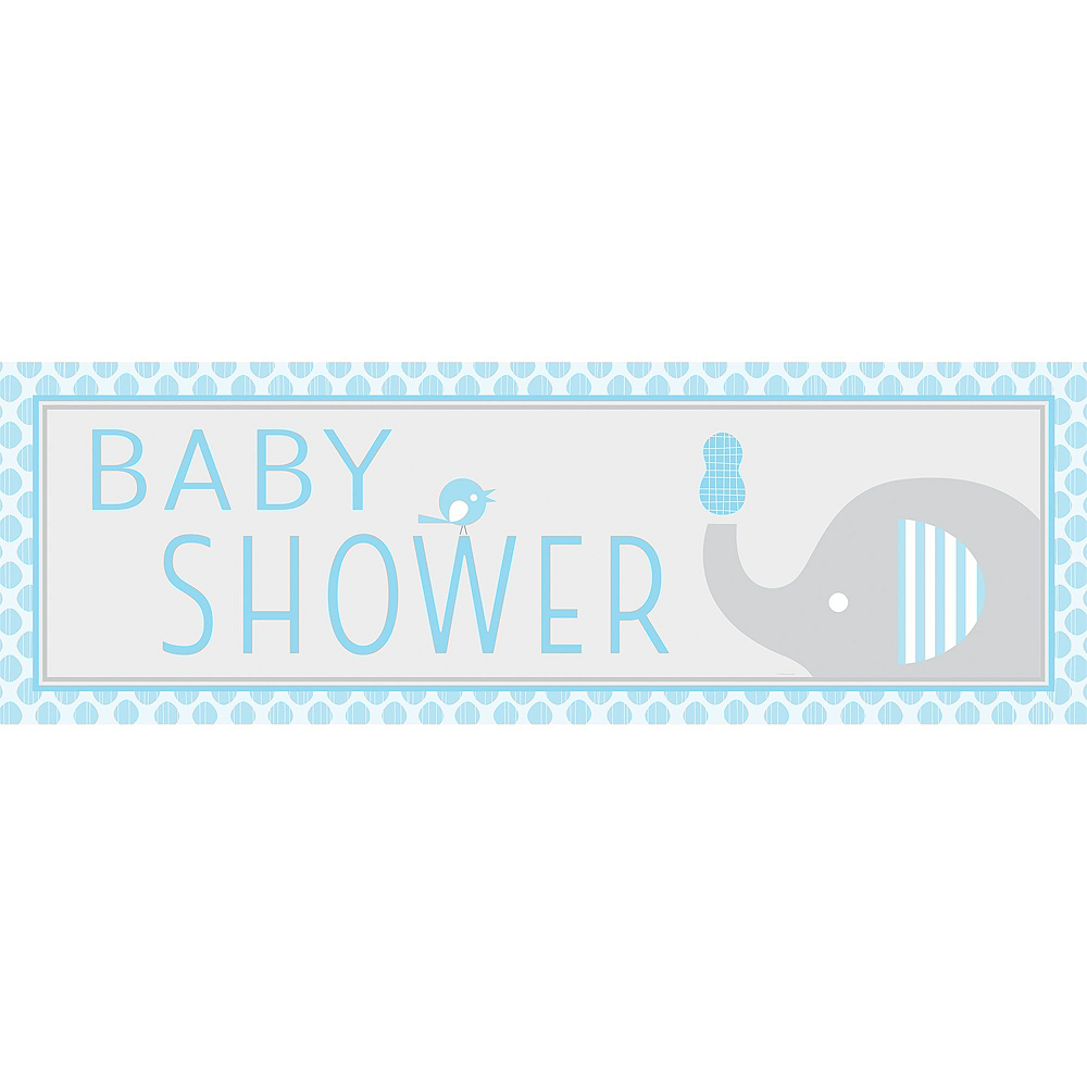 Blue Baby Elephant Premium Baby Shower Kit for 32 Guests Image #12