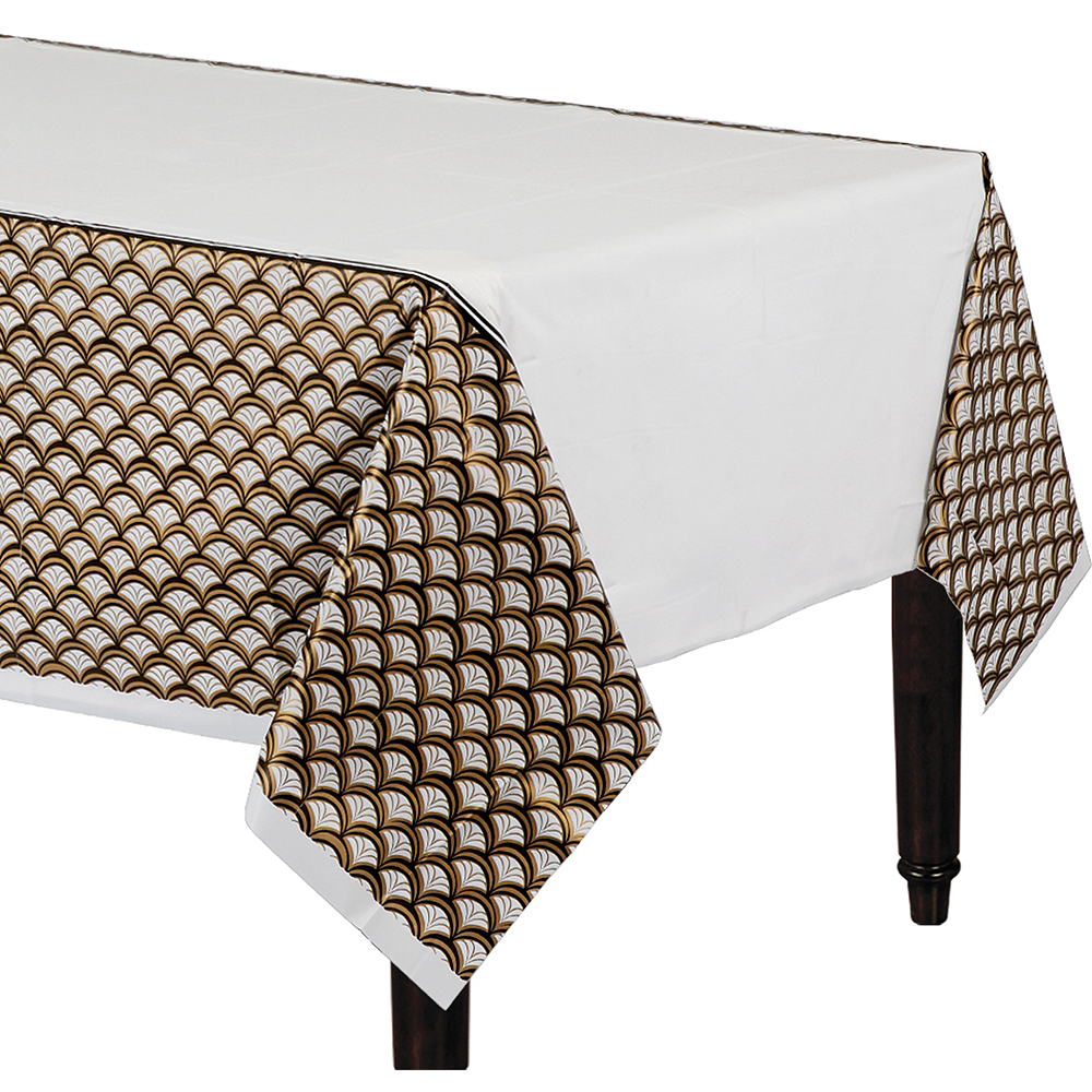 Gold Scalloped Table Cover Image #1
