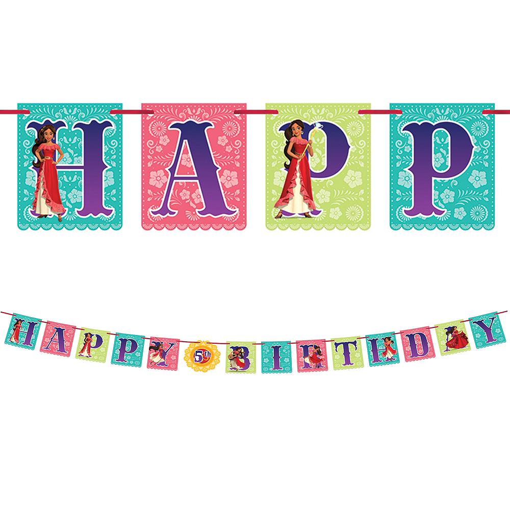 Elena of Avalor Birthday Banner Kit Image #1