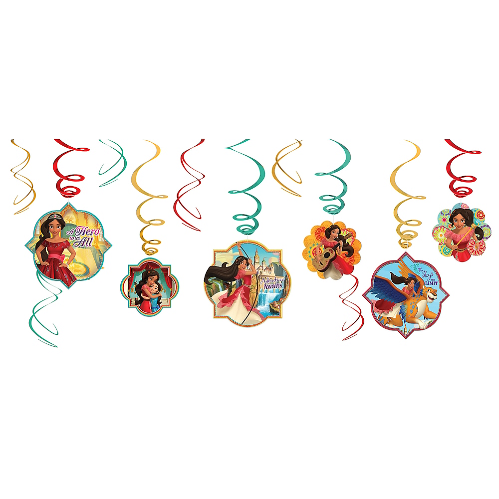 Elena of Avalor Swirl Decorations 12ct Image #1