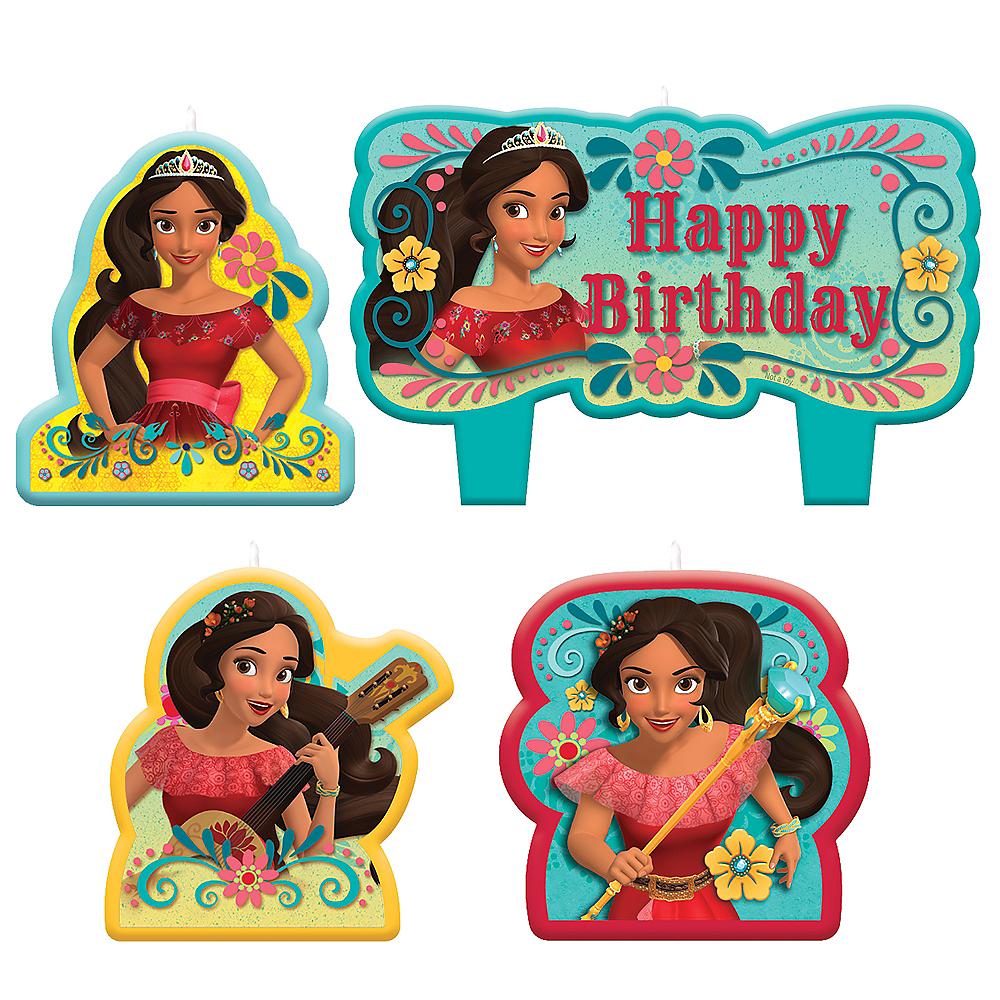 Elena of Avalor Birthday Candles 4ct Image #1