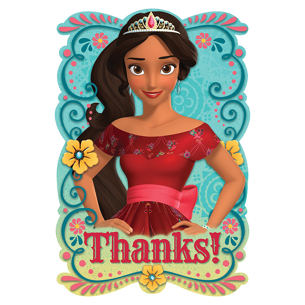 Elena of Avalor Thank You Notes 8ct Image #1