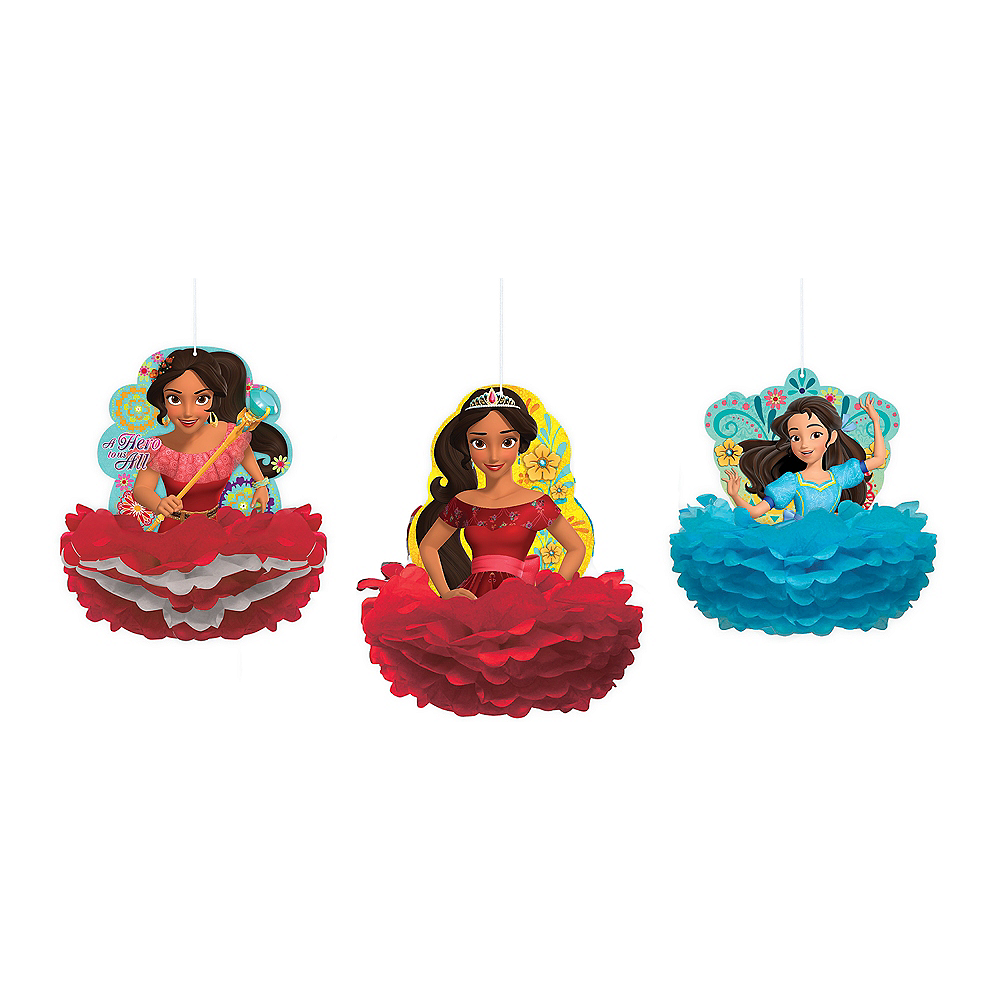 Nav Item for Elena of Avalor Honeycomb Decorations 3ct Image #1