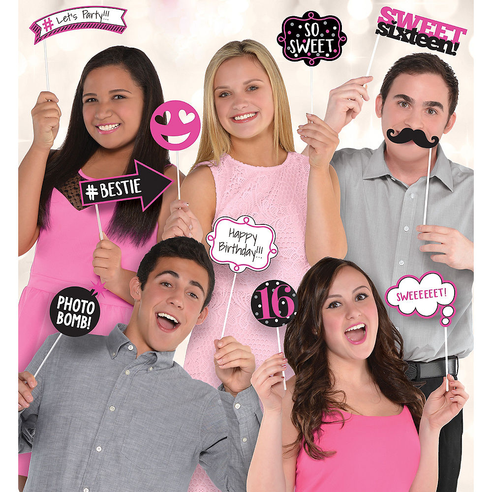 Sweet 16 Photo Booth Props 13ct Party City