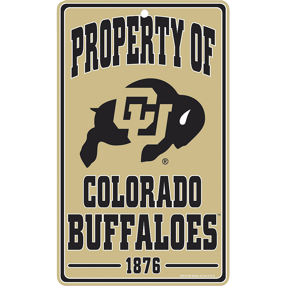 Property of Colorado Buffaloes Sign Image #1