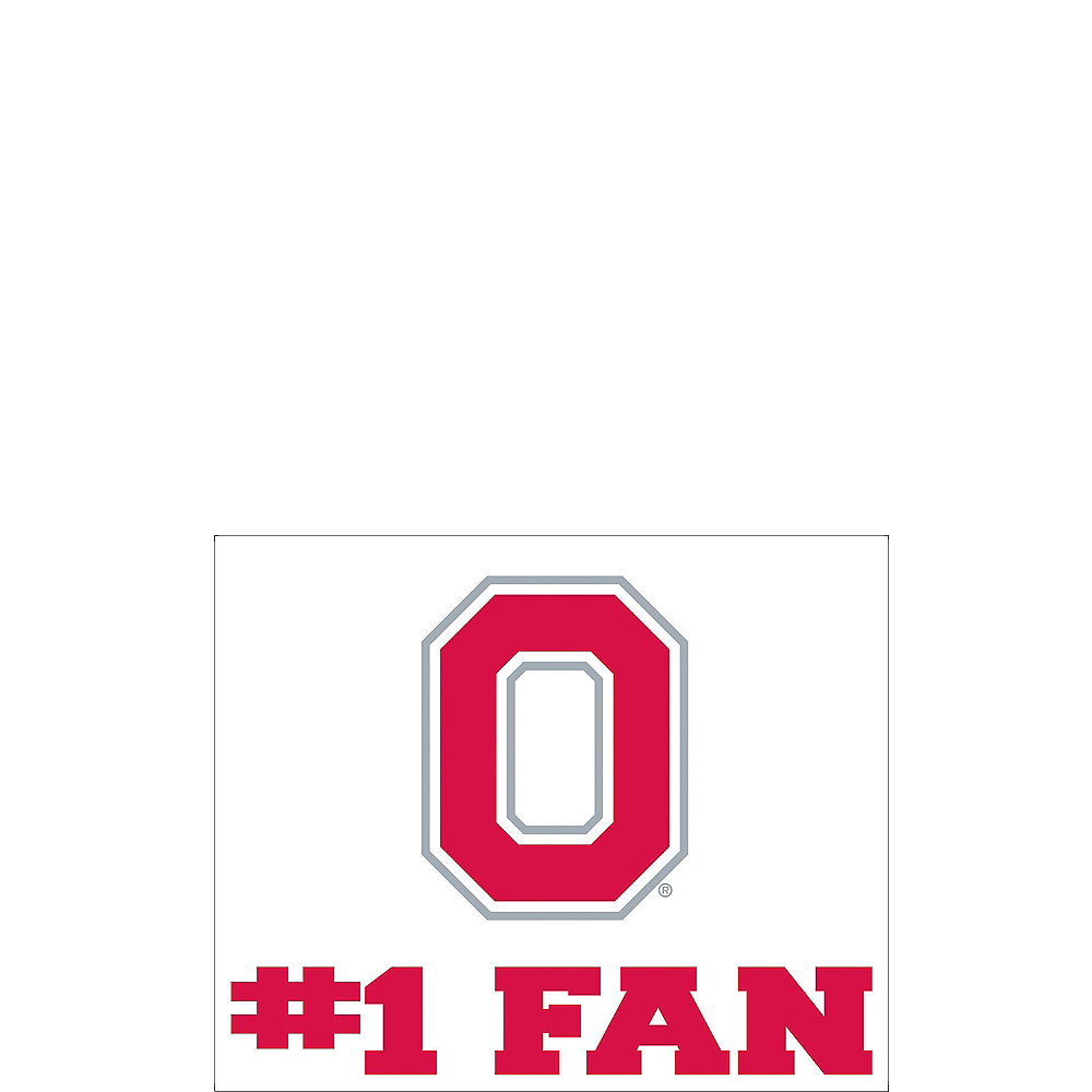 Ohio State Buckeyes #1 Fan Decal Image #1