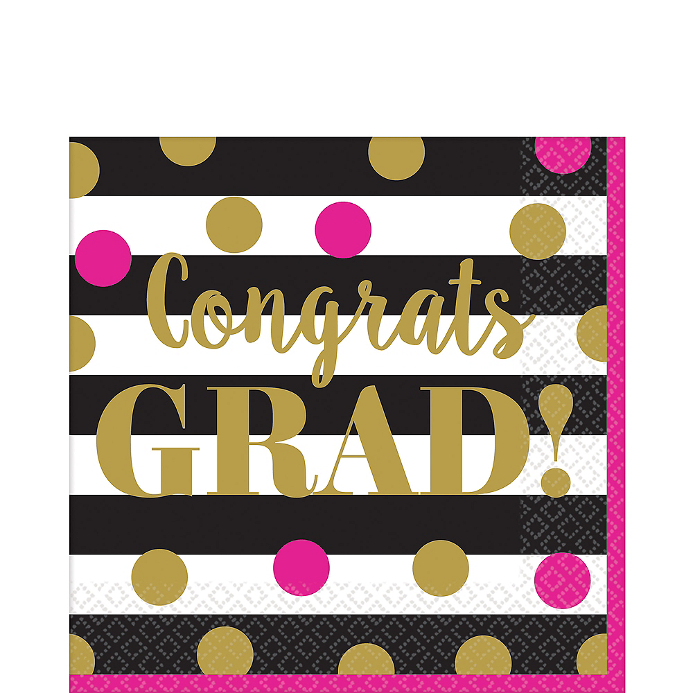Nav Item for Confetti Graduation Lunch Napkins 36ct Image #1