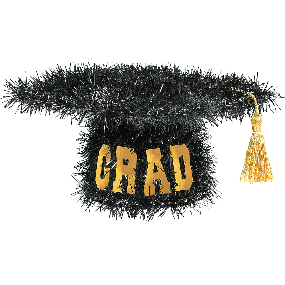 Mini 3D Tinsel Graduation Cap Decoration Image #1